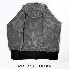 """Nibiru Aztek"" GadoGado roundhood jacket, Grey"