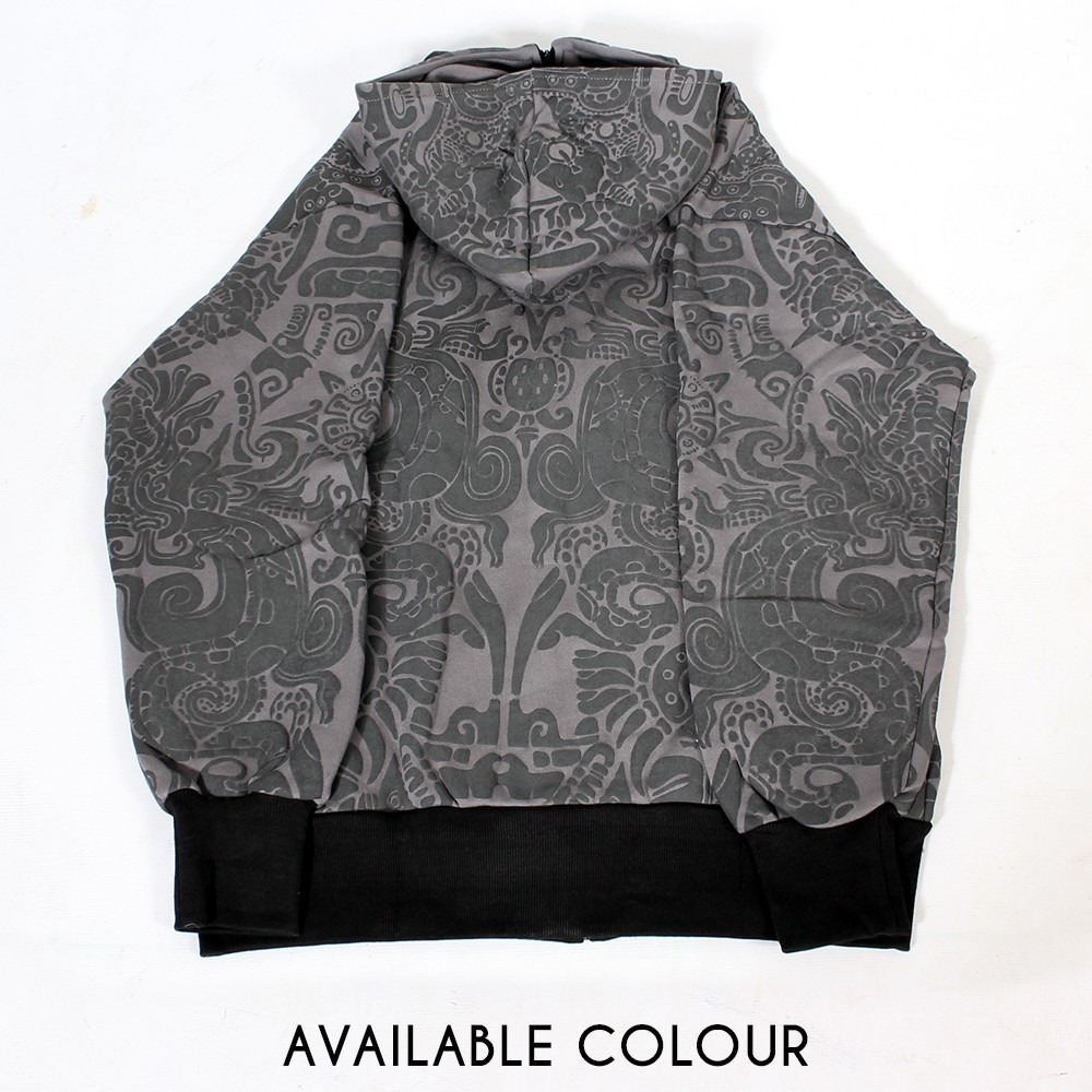 "\""Nibiru Aztek\"" GadoGado roundhood jacket, Grey"