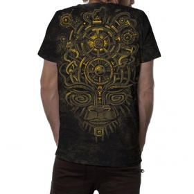 "\""Nightvision\"" T-shirt, Mottled industrial black"
