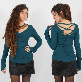 """Nikkäa\"" pullover top, Teal"