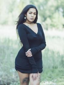 "\""Nikkäa\"" sweater dress, Black"