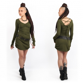 """Nikkäa\"" sweater dress, Khaki green"
