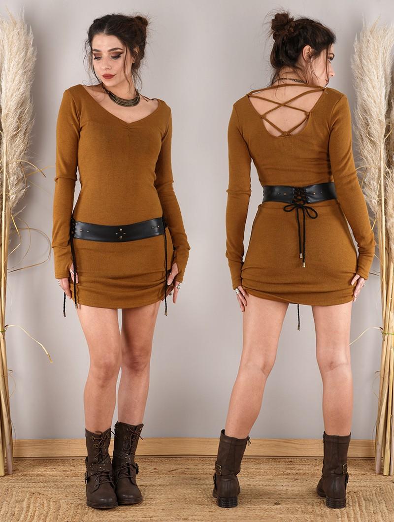 "\""Nikkäa\"" sweater dress, Rusty"