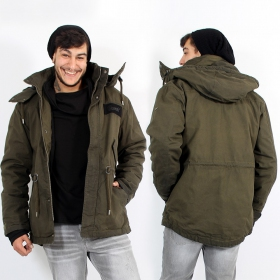 "\\\""Nile coated Parka\\\"" waterproof coat, Khaki"