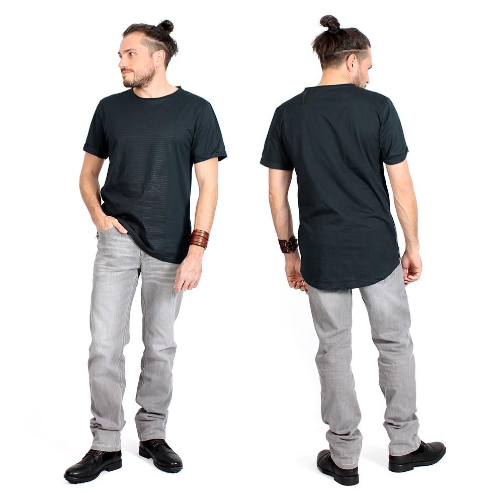 "\""Noah\"" t-shirt, Darkteal and black"
