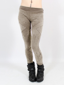 """Nyepi\"" long leggings, Brown"