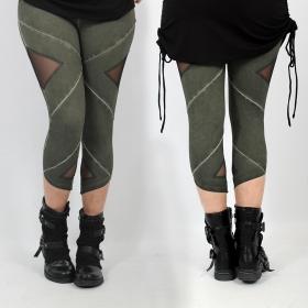 "\""Nyepi\"" short legging, Olive"