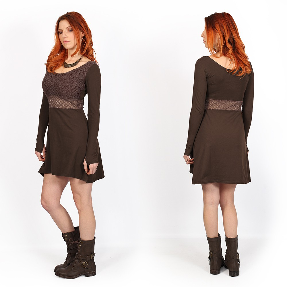 ""\""""Nymphea"""" skater dress with crochet, Brown""1000|1000|?|en|2|cc1d04afa73159dcafd51a5eb6a8af9c|False|UNLIKELY|0.308043897151947