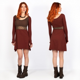 """Nymphea\"" skater dress with crochet, Sienna"