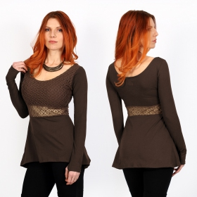 ""\""""Nymphea"""" skater tunic with crochet, Brown""280|280|?|en|2|43bfb31c3ac96f1ccd95b469d2f8b787|False|UNLIKELY|0.32593050599098206