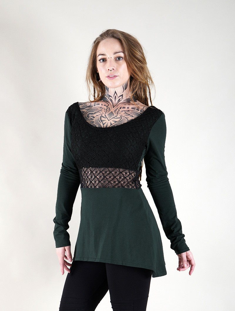 ""\""""Nymphea"""" skater tunic with crochet, Peacock teal""800|1060|?|en|2|998c0f61cb2d95851cd4e9c997daba1b|False|UNLIKELY|0.32679930329322815