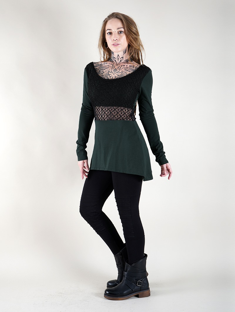 ""\""""Nymphea"""" skater tunic with crochet, Peacock teal""800|1060|?|en|2|d3e5226303090ca95e4986bb581c7050|False|UNLIKELY|0.30988484621047974
