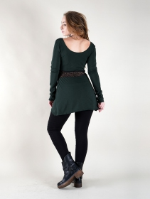 ""\""""Nymphea"""" skater tunic with crochet, Peacock teal""211|280|?|en|2|0f88c0dd041ee5c8ee0e2afa210e92d1|False|UNLIKELY|0.28686270117759705