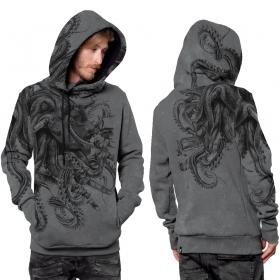 "\""Octan\"" hoodie, Mottled grey"