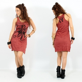 "\""Octopus\"" dress, Dark red"