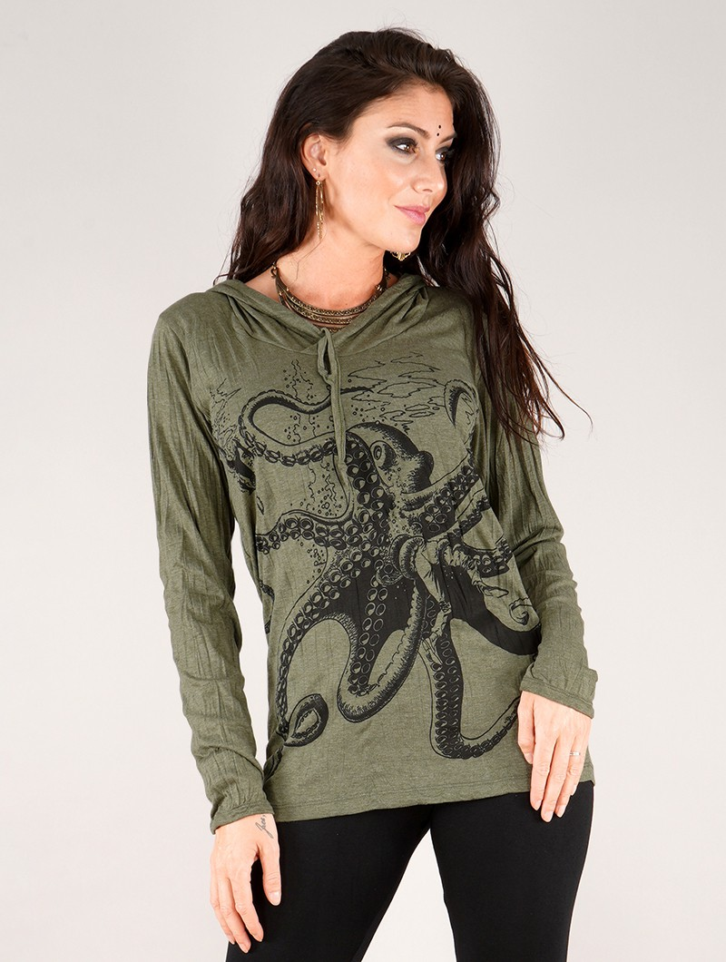 ""\""""Octopus"""" hooded top, Army green""800|1060|?|en|2|0a52cddf3c9cc11983ebc43722c8cf64|False|UNLIKELY|0.3465518057346344