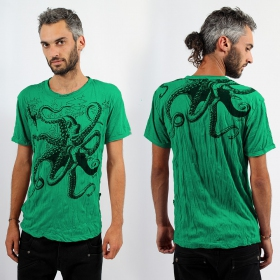 """Octopus\"" t-shirt, Mint"