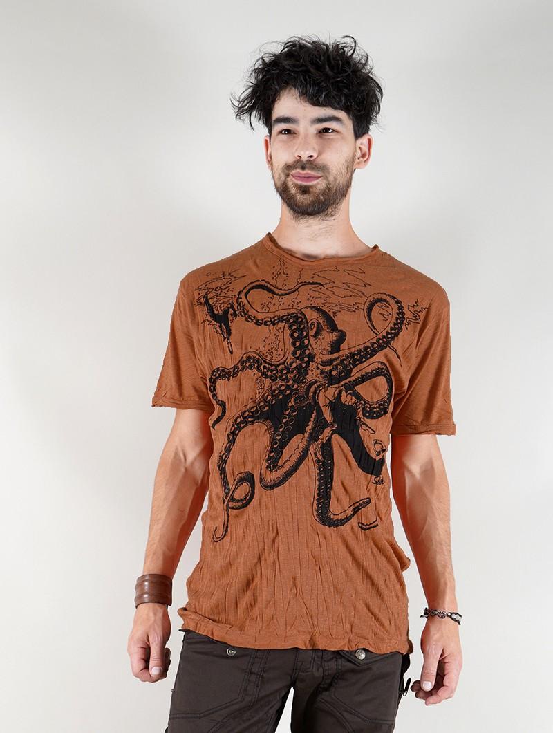 "\""Octopus\"" t-shirt, Orange"