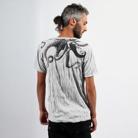 "\""Octopus\"" t-shirt, White"