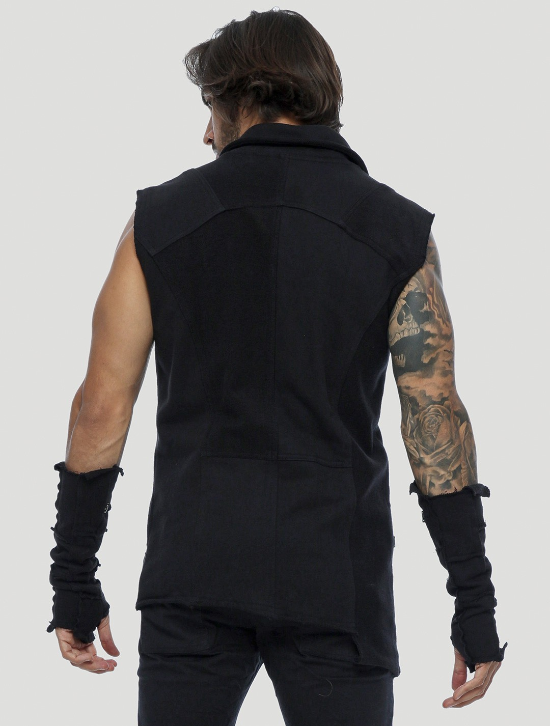 "\""Off\"" sleeveless vest, Black"
