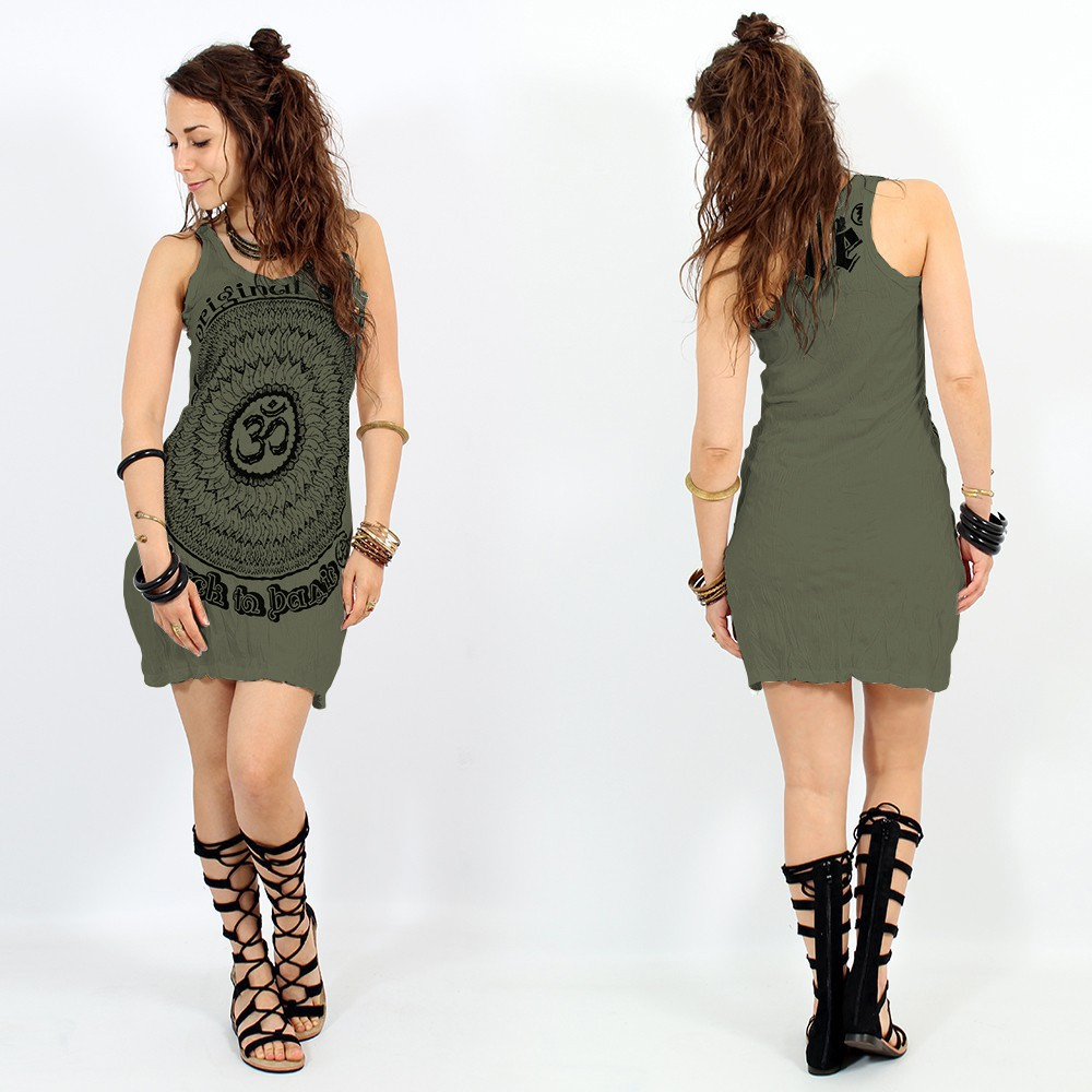 """Ohm Mandala\"" dress, Khaki"