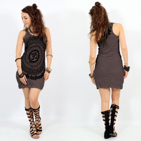 """Ohm Mandala\"" dress, Taupe"
