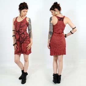"\""Ohm tree\"" dress, Dark red"