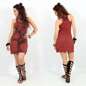 """Ohm tree\"" dress, Dark red"
