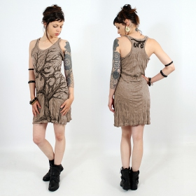 "\""Ohm tree\\\"" dress, Light brown"