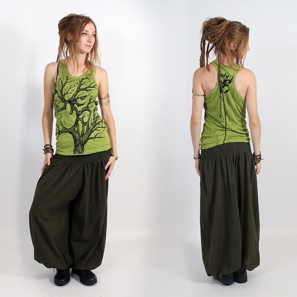 "\""Ohm tree\\\"" tank top, Apple green"
