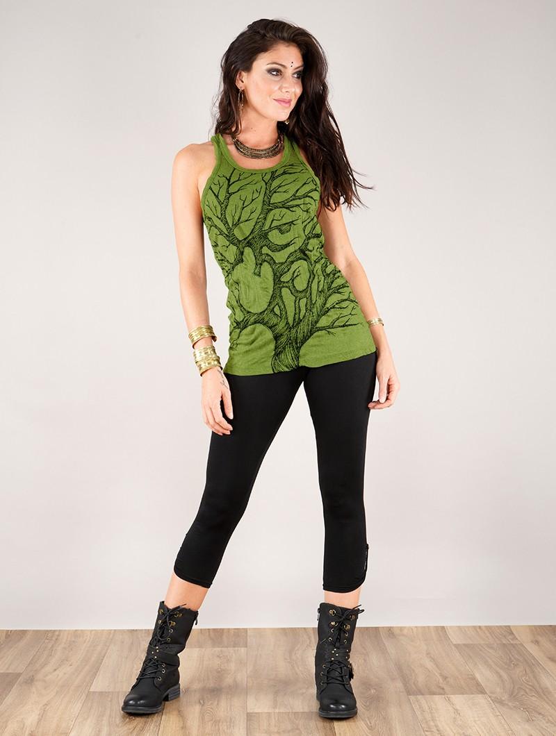 "\""Ohm tree\"" tank top, Apple green"
