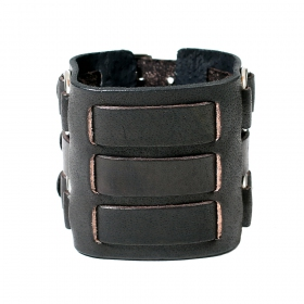 """Ojas\"" leather bracelet, Black"