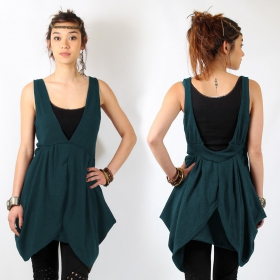 """Okali\"" Tunic, Teal blue"