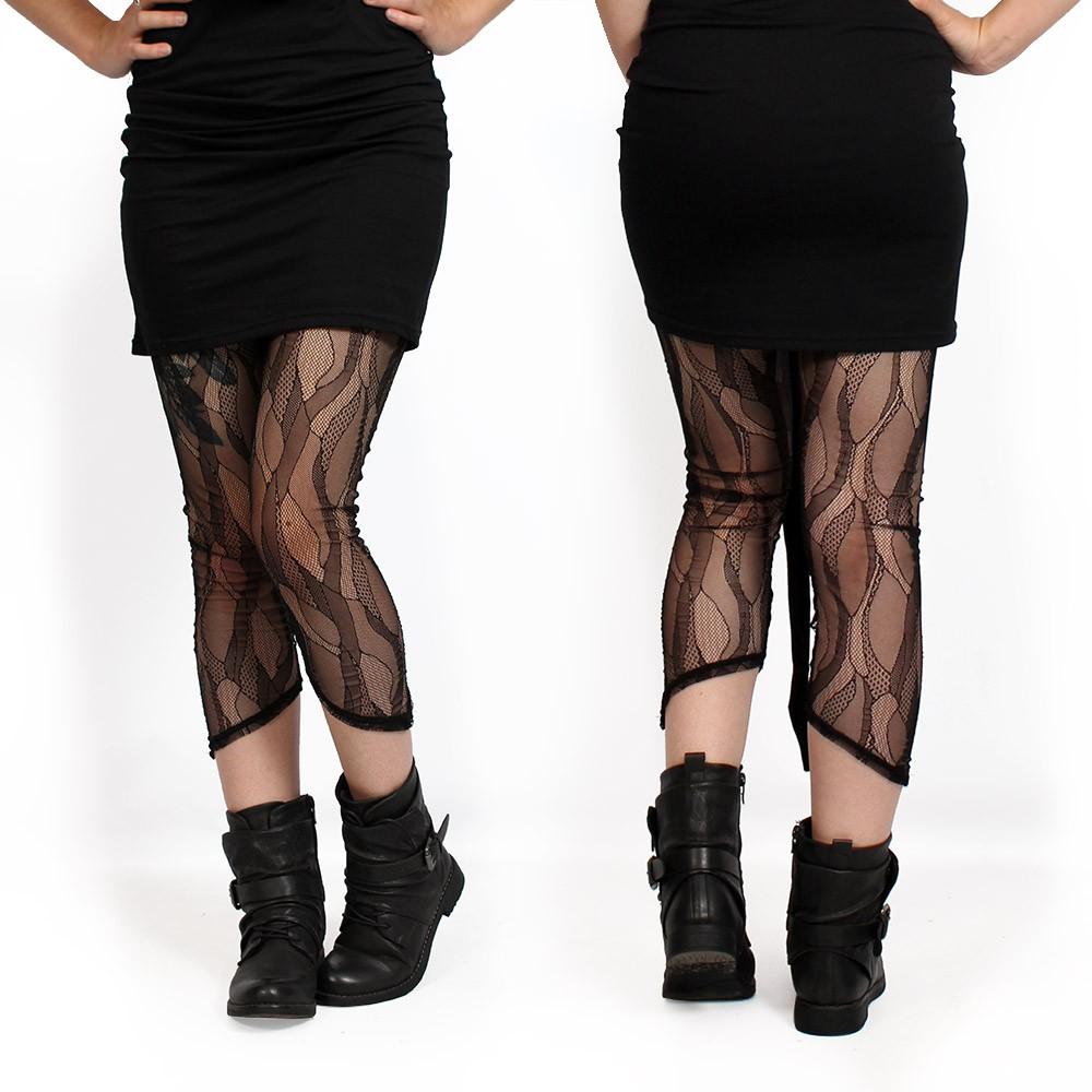 "\""Okïl\"" pointy leggings, Black"