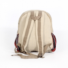 ""\""""Onaona"""" backpack, Beige jute canvas with colorful patterns""280|280|?|en|2|1ab2477a28c49eb8811d953ba3f793ca|False|UNLIKELY|0.3524268567562103