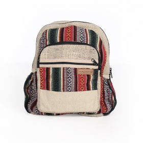 ""\""""Onaona"""" backpack, Beige jute canvas with colorful patterns""280|280|?|en|2|e02460daf8242b75850514b400168875|False|UNLIKELY|0.3453655242919922