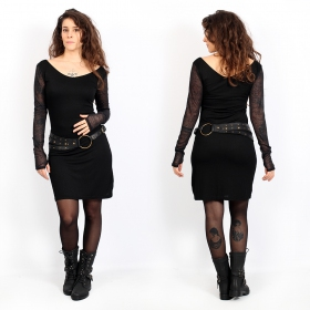 """Oneïssa\"" long sleeved dress, Black"