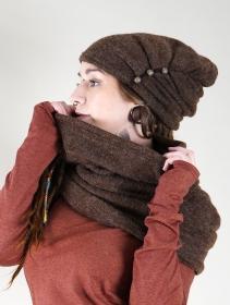"\""Oöna\"" snood scarf, Brown"