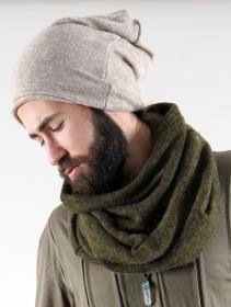 "\""Oöna\"" snood scarf, Khaki green"