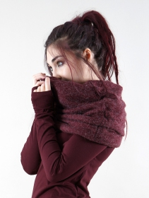 "\""Oöna\"" snood scarf, Wine"