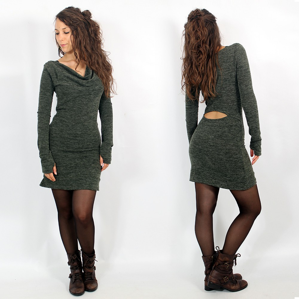 "\""Opäal\"" pullover dress, Teal"