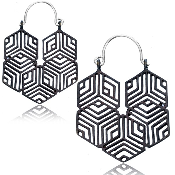 "\""Optikal\"" earrings"