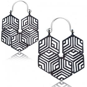 """Optikal\"" earrings"
