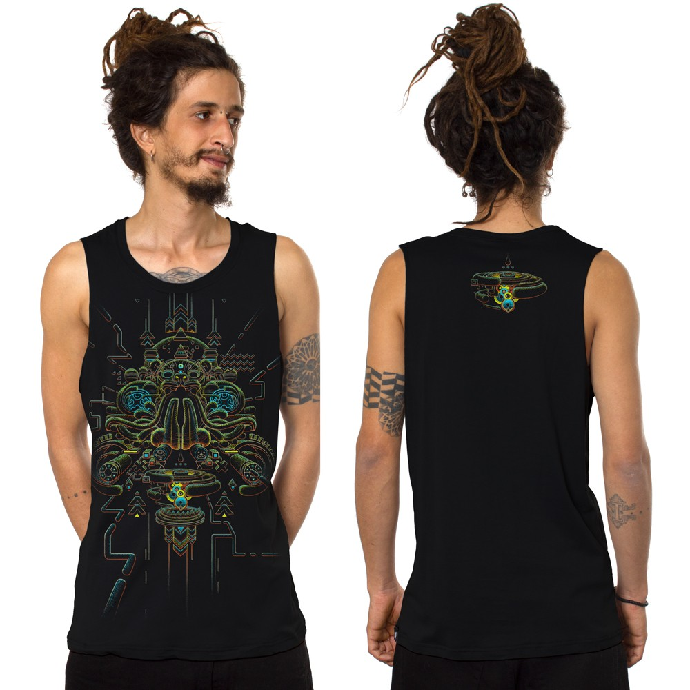 """Oracular\"" tank top, Black"