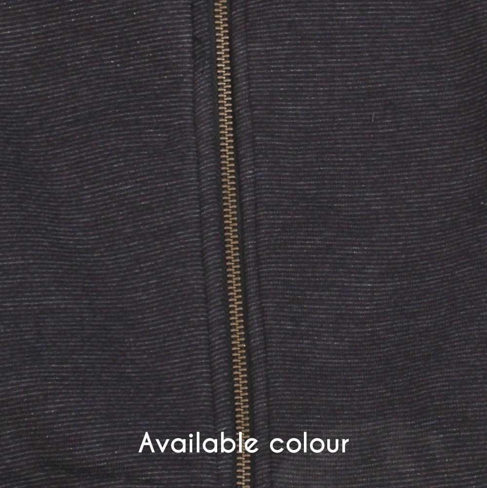 """""""Orbital"""" zipped hoodie, Grey stripes"""