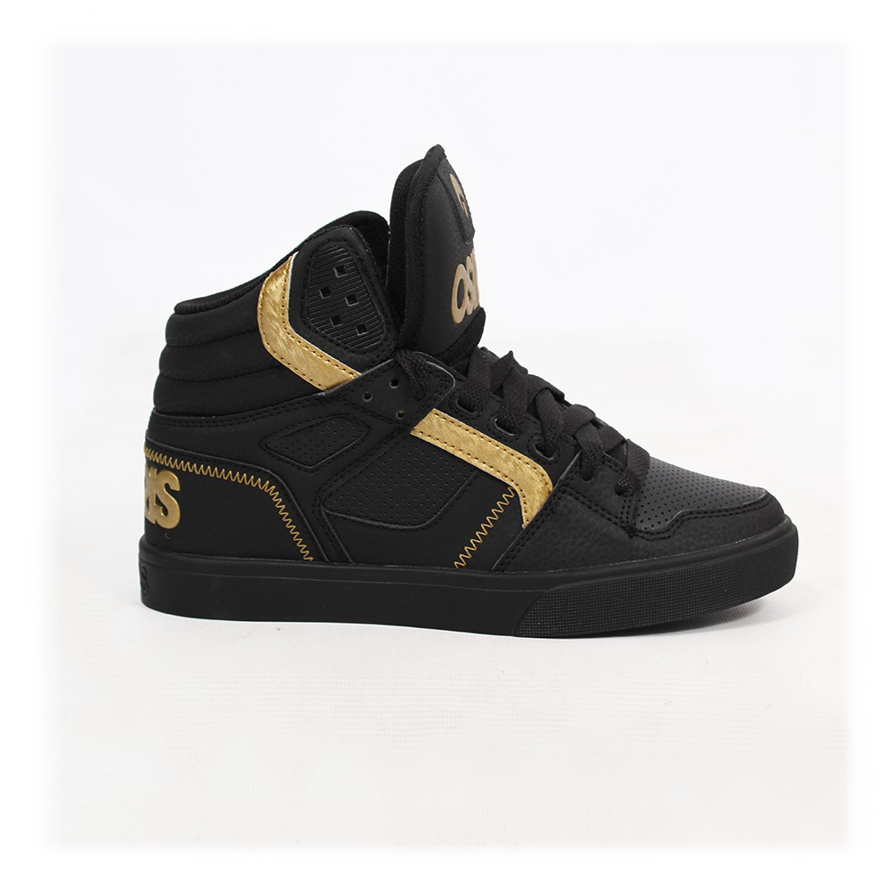 Osiris Clone, Synthetic black nubuck and golden details