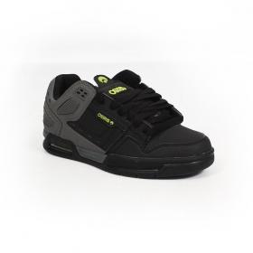 Osiris Peril, Synthetic grey black nubuck with lime green details