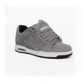 Osiris Peril, Synthetic grey nubuck with silver and black details