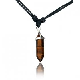 "\""Oumsiya tiger eye\"" necklace"