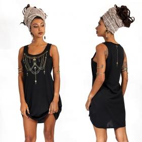 "\""Paalayan\"" dress, Black and Gold"